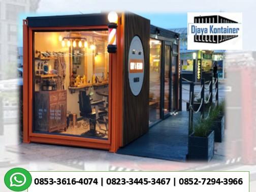 Pusat Pembuatan Toko Gerai Barbershop Container