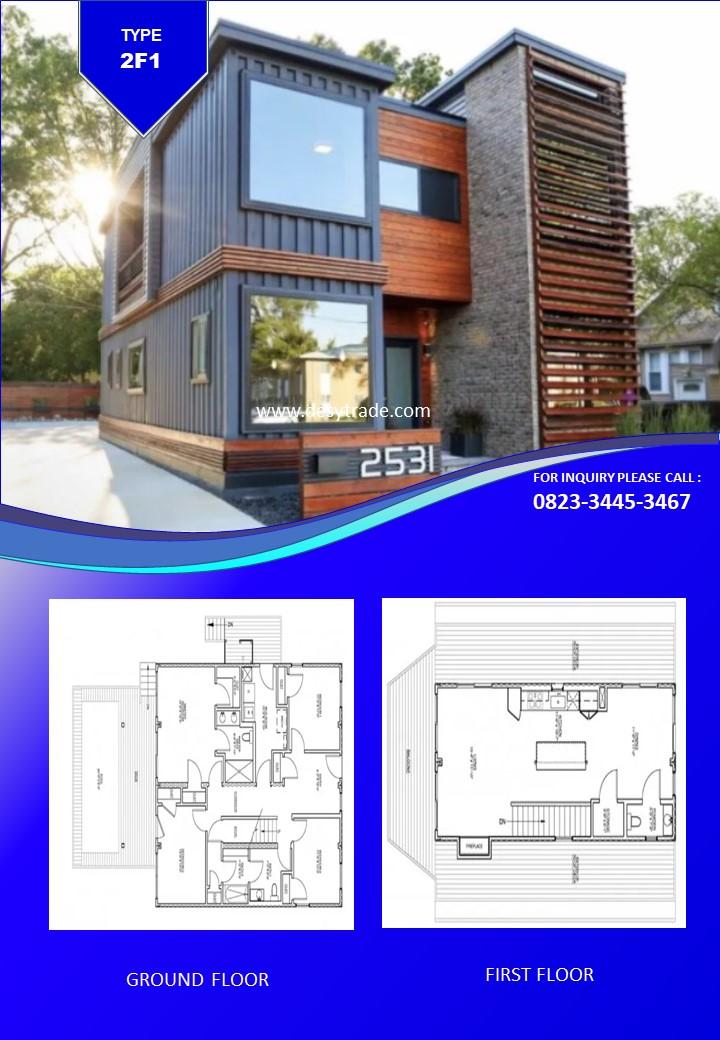 082334453467 Perumahan Rumah Kontainer Type 2F1