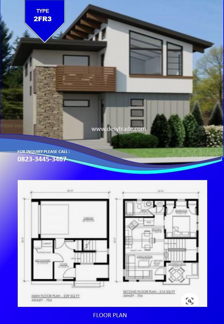 082334453467 Perumahan Rumah Kontainer Type 2FR3
