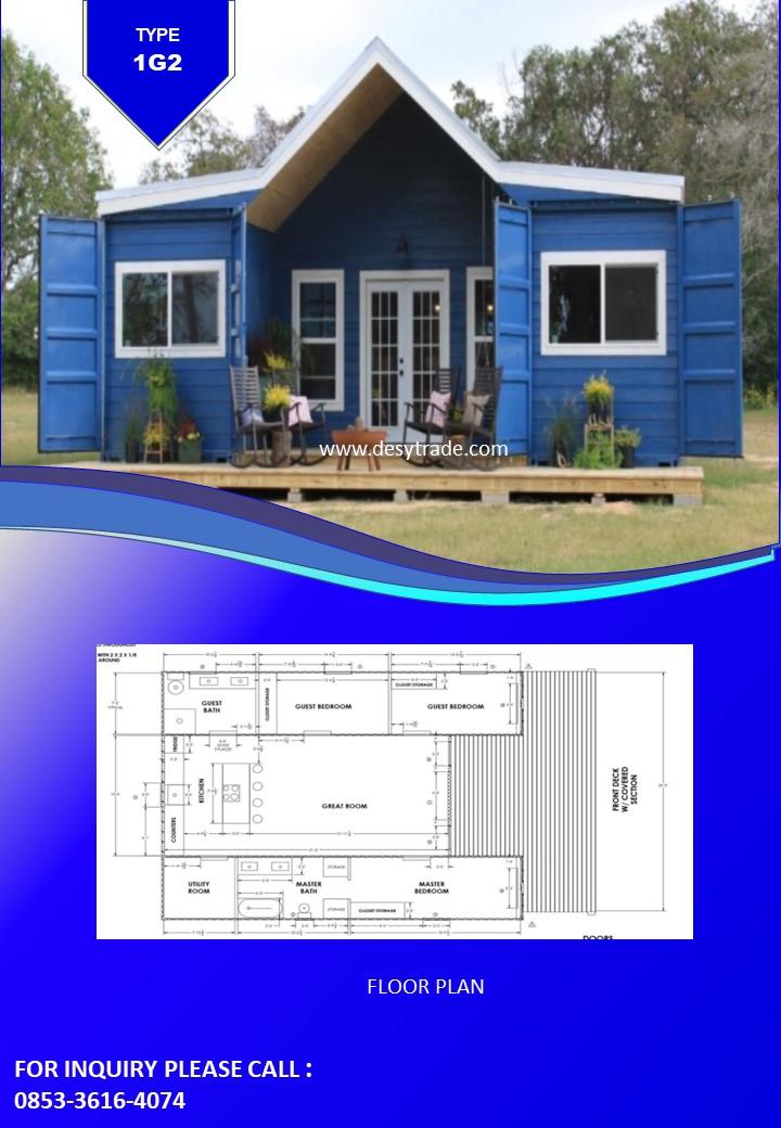 0853-36164074 Perumahan Rumah Kontainer Type 1EG2