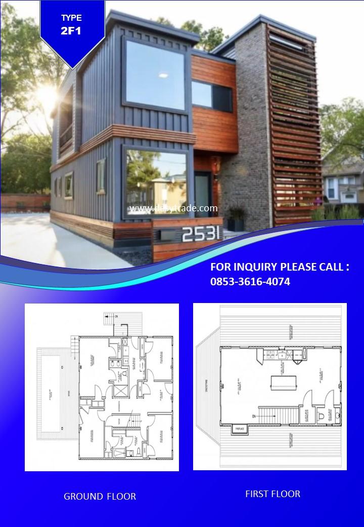 0853-36164074 Perumahan Rumah Kontainer Type 2F1