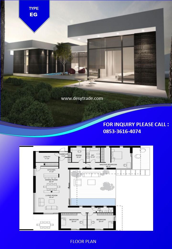 0853-36164074 Perumahan Rumah Kontainer Type EG