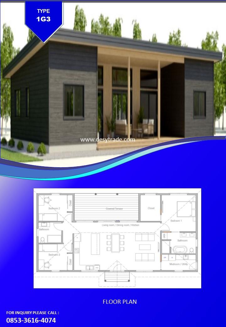 085336164074 Perumahan Rumah Kontainer Type 1G3