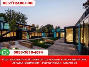 Pusat Pembuatan Sekolah Pesantren Asrama Perpustakaan Container