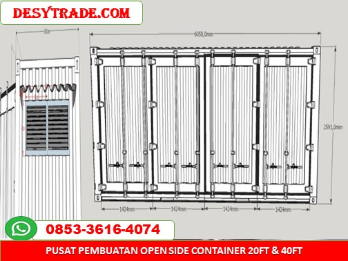 Open Side Container 20ft 40ft MURAH 085336164074