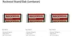 Rockwoll Board Slab (Lembaran) 0853-3616-4074