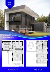 085336164074 Perumahan Rumah Kontainer Type EF1