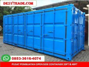 Pusat Pembuatan Open Side Container 20ft 40ft MURAH